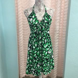 The North Face Black and green halter dress